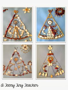 Native American project---use beans, corn, and pumpkin seeds to design a picture.