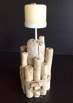 Bougie en Bois Flotté par l'Atelier de Corinne : Luminaires par atelier-de-corinne