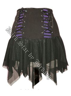 Dark Star Gothic Black Purple Clubbing Corset Mini Skirt [DS/SK/5785P] - $45.99 : Mystic Crypt, the most unique, hard to find items at ghoulishly great prices!