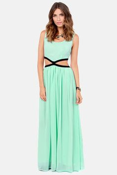 Blaque Label See You Around Cutout Mint Maxi Dress