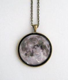 Moonchild Necklace Grey by NinaMantra on Etsy