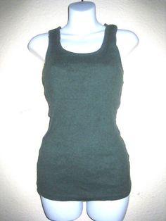 Gap women body ribbed green tank top!