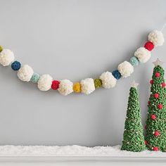 Pom Pom Tree, Pom Pom Wreath, Felt Wreath, Felt Ball Garland, Tassel Garland, Diy Garland, Tassels, Pom Pom Diy, Garland Ideas