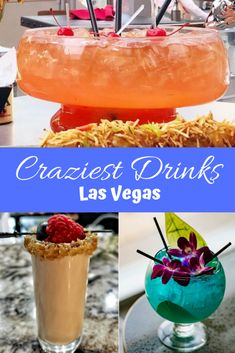 Everything in Las Vegas is over the top and that includes the cocktails. If you are headed to Las Vegas you are going to need to be sure and try some of these crazy cocktails which you are in the city To help you Las Vegas Restaurants, Las Vegas Eats, Las Vegas Food, Visit Las Vegas, Las Vegas Vacation, Vegas Fun, Las Vegas Nevada, Las Vegas Travel, Viajes