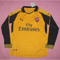 9d8d3a4c3 AAA Thailand Quality 16 17 Arsenal Away Long Soccer Jersey Arsenal Shirt
