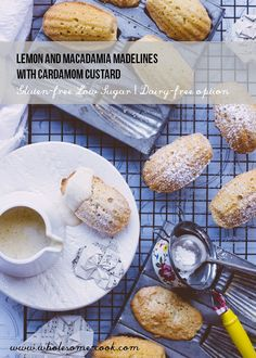 Gluten-free Lemon and Macadamia Madelines with Cardamom Custard #glutenfree #MothersDay