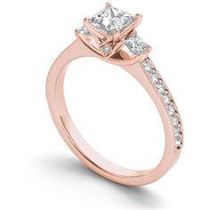 Princess Cut Rings, Princess Cut Engagement Rings, Princess Cut Diamonds, Three Stone Diamond Ring, Diamond Rings, Engagement Rings 4 Carat, Rose Gold Promise Ring, Dream Ring, Walmart