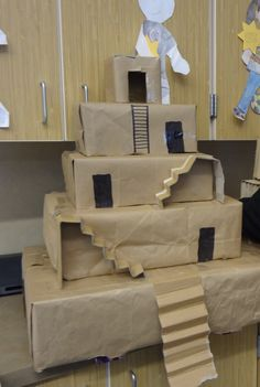 The Mesopotamian's version of the pyramid-the ziggurat. I'm thinking architecture through the ages. Really nifty project. Great for after school.