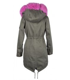 COTTON PARKA WITH FUSCHIA FOX-RABBIT VEST ONLINE PURCHASE: www.cigdemmalkoc.com