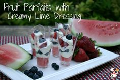Fourth of July Food: Fruit Parfaits