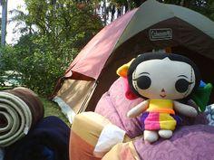 """Un día María se fue a acampar a """"Las estacas"""", México y nos mandó esta foto :) #Artesanías #Viaje #México #Diseño #MaríasINC #kawaii"""