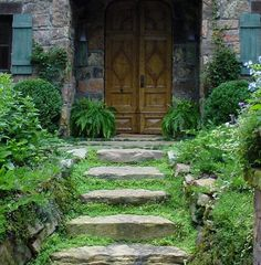 grass stairs