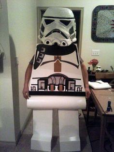 DIY LEGO stormtrooper costume.
