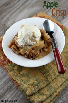 Apple Crisp by RecipeGirl.com:  ok, not exactly pie, but with the same good intentions-Get here fast Fall!
