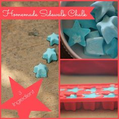 25 Days of Summer Savings Day 1: Homemade Sidewalk Chalk - 3 ingredients and freeze