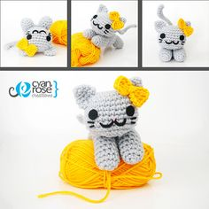 Alice, an adorable amigurumi cat by Cyan Rose Creations, via Flickr
