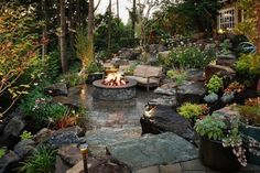 """Find out even more relevant information on """"outdoor fire pit designs"""". Look into our site. Sloped Backyard, Fire Pit Backyard, Backyard Patio, Backyard Ideas, Sloped Yard, Firepit Ideas, Backyard Privacy, Backyard Fireplace, Backyard Designs"""