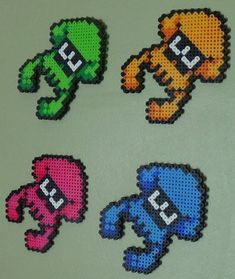 Splatoon Squids in perler form! I'm open to commissions! Please let me know if you're interested!