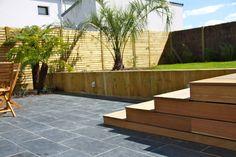Terrasse bois terrasse pierre | Arbor Minéral Vannes Morbihan Deck, Outdoor Decor, Home Decor, Gardens, Landscape Planner, Stones, Decoration Home, Room Decor, Front Porches