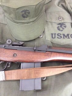 Early Vietnam USMC utilities with M-14, Roy Berry collection