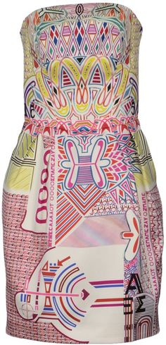 Mary Katrantzou Pink Short Dress