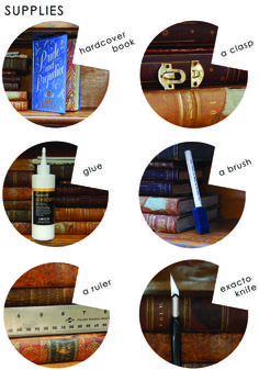 book clutch - supplies
