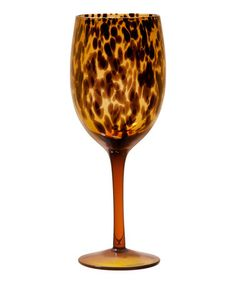 Take a look at this Safari Wine Goblet - Set of Four by Home Essentials and Beyond on #zulily today! $28 !!