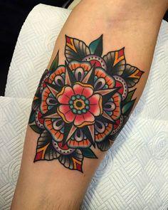 Samuele Briganti Tattoo Artist #Mandala #Flower