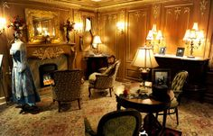 The exhibit of a first class cabin inside the Titanic Museum in Pigeon Forge. (Michael Patrick, News Sentinel)