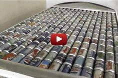 Solar panels made of pop cans heat homes at almost no cost