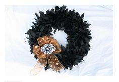 Chic Halloween Ribbon Wreath Tutorial