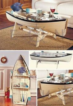 A coffee table for the nautical lover. #furniture #homedecor