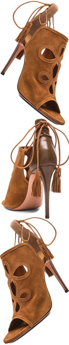 AQUAZZURA GET ME EVERYWHERE SUEDE HEELS