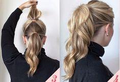 peinados faciles de cola de caballo - Buscar con Google