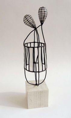 Jay Kelly metal & paper sculpture