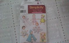 Simplicity 3883 Simplicity Archivess Baby Doll Clothes in 3 sizes by SewVeryBerry on Etsy