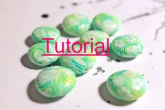 Tutorial : Polymer clay translucent layered beads. $20.00, via Etsy.