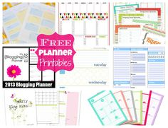 Free Planner Printables - Happy-Go-Lucky