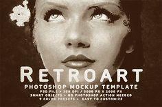 Retroart Mockup Template by GOICHA on @creativemarket