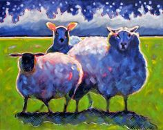 Ann Tuck: Sheep #2, oil  painting,  Ugallery