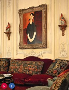 The Shopping mall magnate A. Alfred Taubman's personal art collection goes on the Sotheby's auction block in a series of sales starting November Traditional Interior, Classic Interior, Bordeaux, French Architecture, Interior Decorating, Interior Design, Art Of Living, Living Room, Architectural Digest