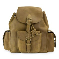 Hand Crafted Leather Backpack from Mexico - Weathered in Honey Brown | NOVICA