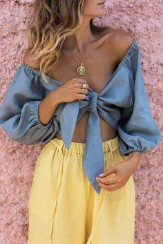 Posse Mia Top in Seagrass Look Fashion, Girl Fashion, Fashion Outfits, Womens Fashion, Fashion Trends, Trendy Outfits, Summer Outfits, Cute Outfits, Parisienne Chic
