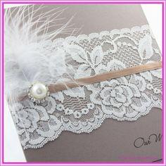 http://funxnd.info/?1325966    DIY lace wedding invitations brialou92