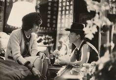 Coco Chanel & Romy Schneider