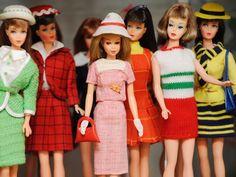 Vintage barbie doll collection.