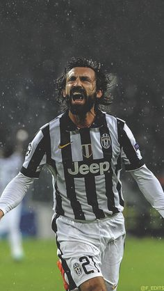 I picked this because Andrea Pirlo is one of my favorite players, and his passion for the game and his country is inspiring. I aspire to someday have as much passion for something as he does for soccer. Football Icon, Best Football Players, Football Is Life, World Football, Football Kits, Sport Football, Soccer Players, Andrea Pirlo, Fifa
