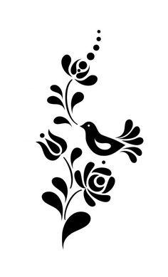 Madaras virágmintás falmatrica, Dekoráció, Falmatrica, Kalocsai motívumok alapján: