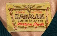 Karman label -1950s