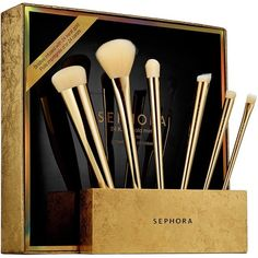 SEPHORA✨24 Karat Gold Mine Brush Set✨ SEPHORA✨24 Karat Gold Mine Brush Set✨ Limited Edition Collectible Gold Brush Set• Bristles infused with 24 Karat Gold stand on a Gold Tone Brush Holder Display Stand• Includes a Stand• Complexion Perfecter• Natural flush Blush• Precision Corrector• Domed Crease• All over shadow• and an Soft focus Liner Brush•• ✨For the Gold & Makeup lovers•• Cruelty Free Product💠SOLD OUT ONLINE 💠Negotiations only through Offer Tool Please• No Trades Sephora Makeup…